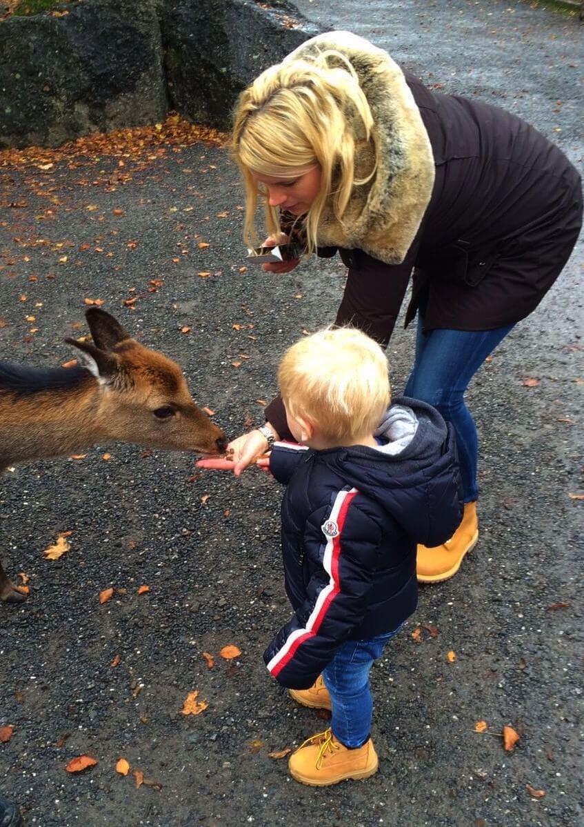 Happy Mum Blog - Auf Tierschau imTierpark Goldau - Füttern