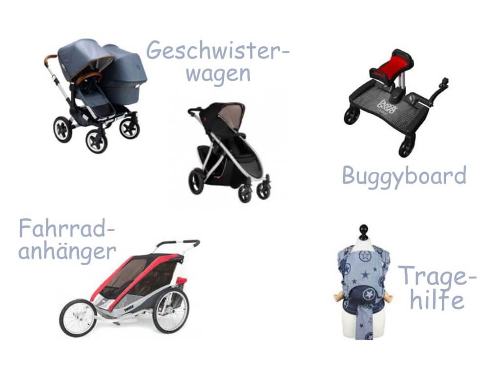 Happy Mum Blog - Geschwisterwagen / Transportmöglichkeiten - Collage