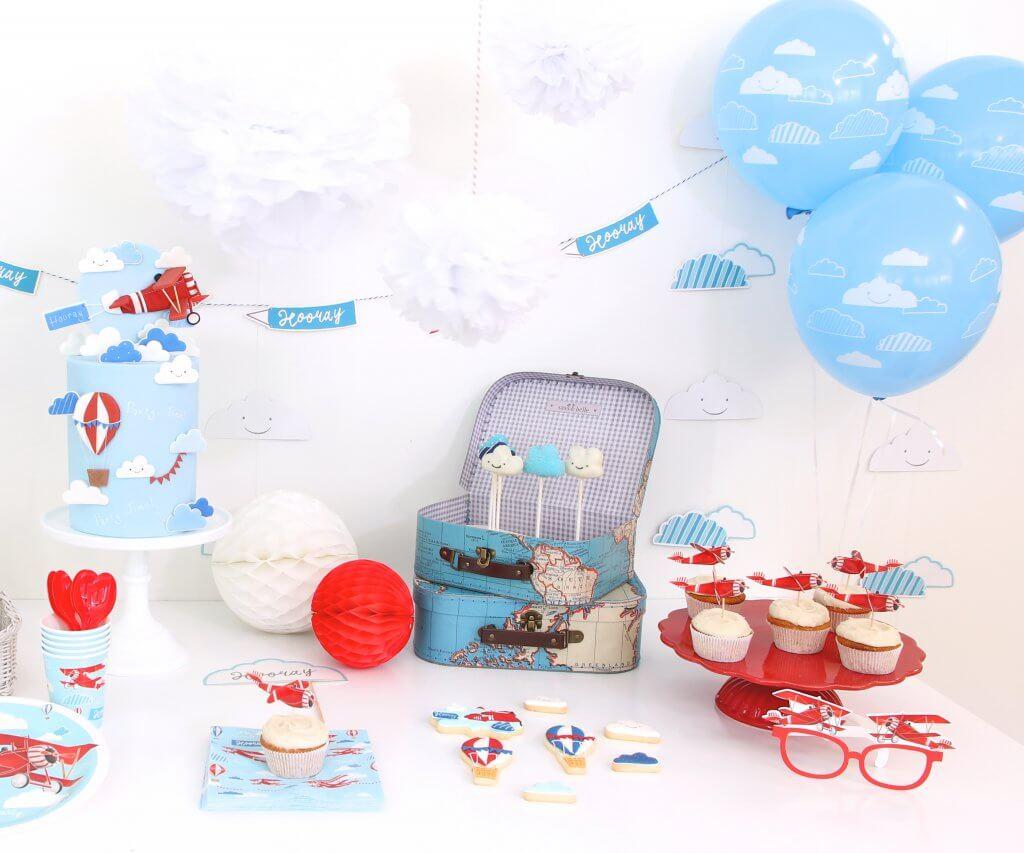 happy mum blog - pinkfisch party - kindergeburtstag Flugzeug