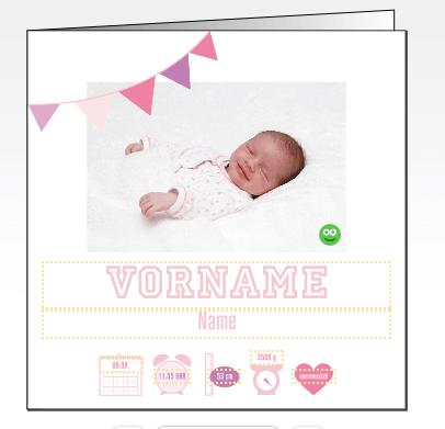 Happy Mum Blog - Geburtskarten gestalten mit fotocolorservie - Geburtskarten Dankeskarte