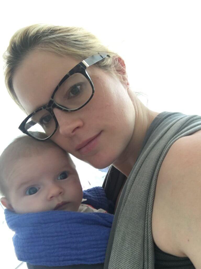 Happy Mum Blog - 2 Monate mit 2 Kids - langweile kommt nie auf - selfie