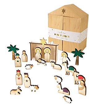 Adventskalender Kinder Meri Meri Krippe Holz